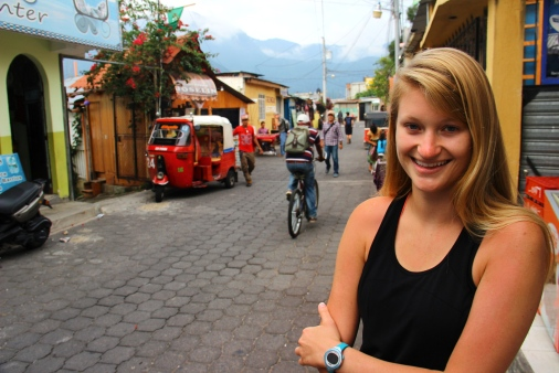 Andrea at San Pedro de Laguna