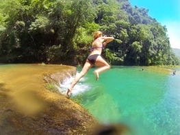 Jump into the river!