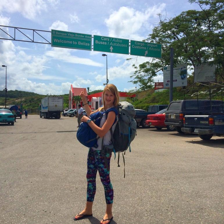 Crossing the Guatemala-Belize border