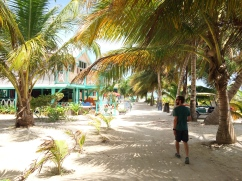Walking the sandy streets of Caye Caulker