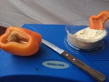 Peppers w/ hummus (Life saviors)