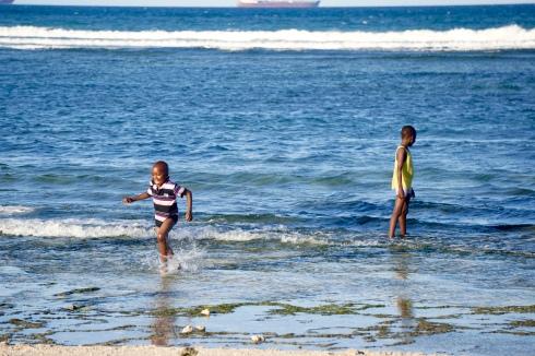 Children enjoying the beach!